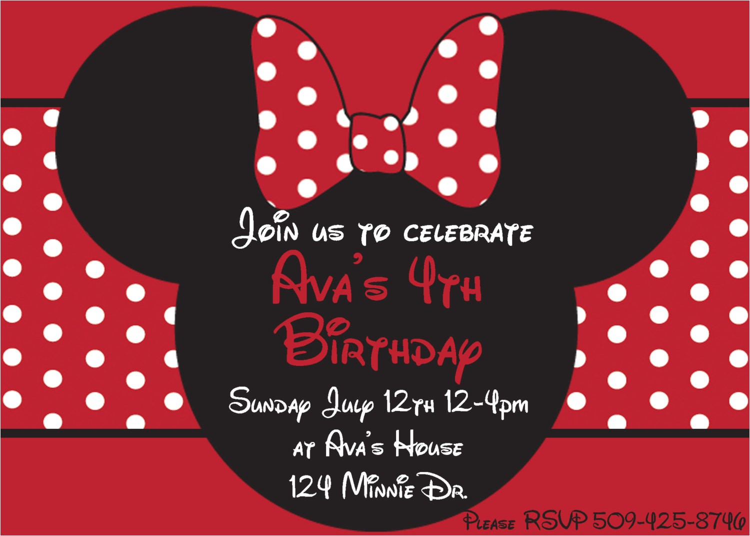 diy minnie mouse red printable birthday