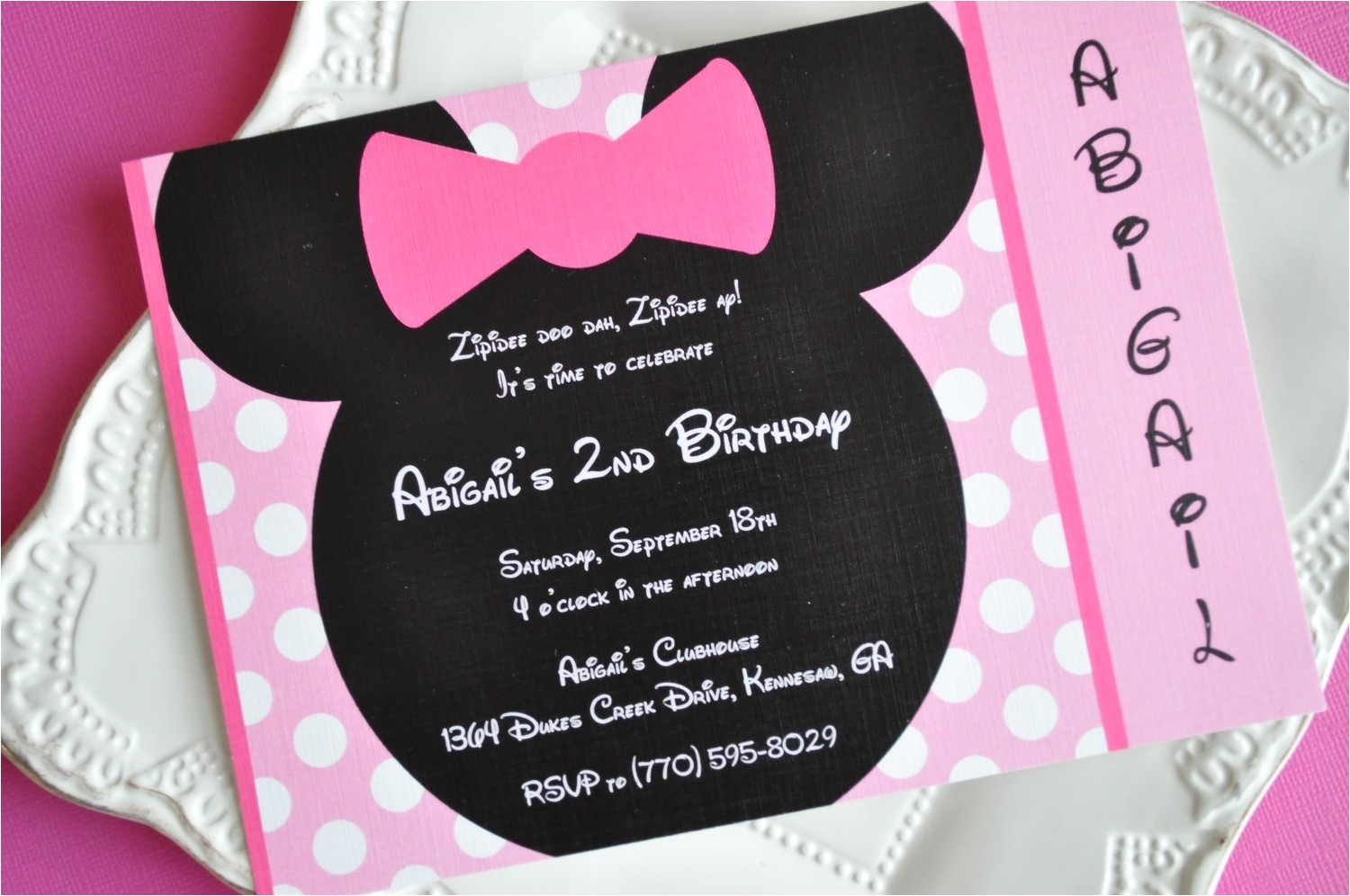 homemade minnie mouse invitations template
