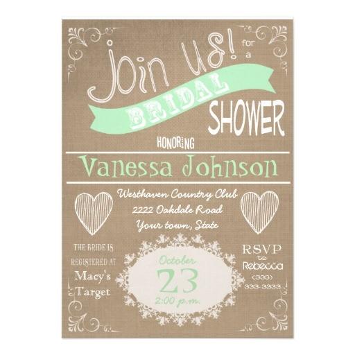 zazzle vintage bridal shower invitations