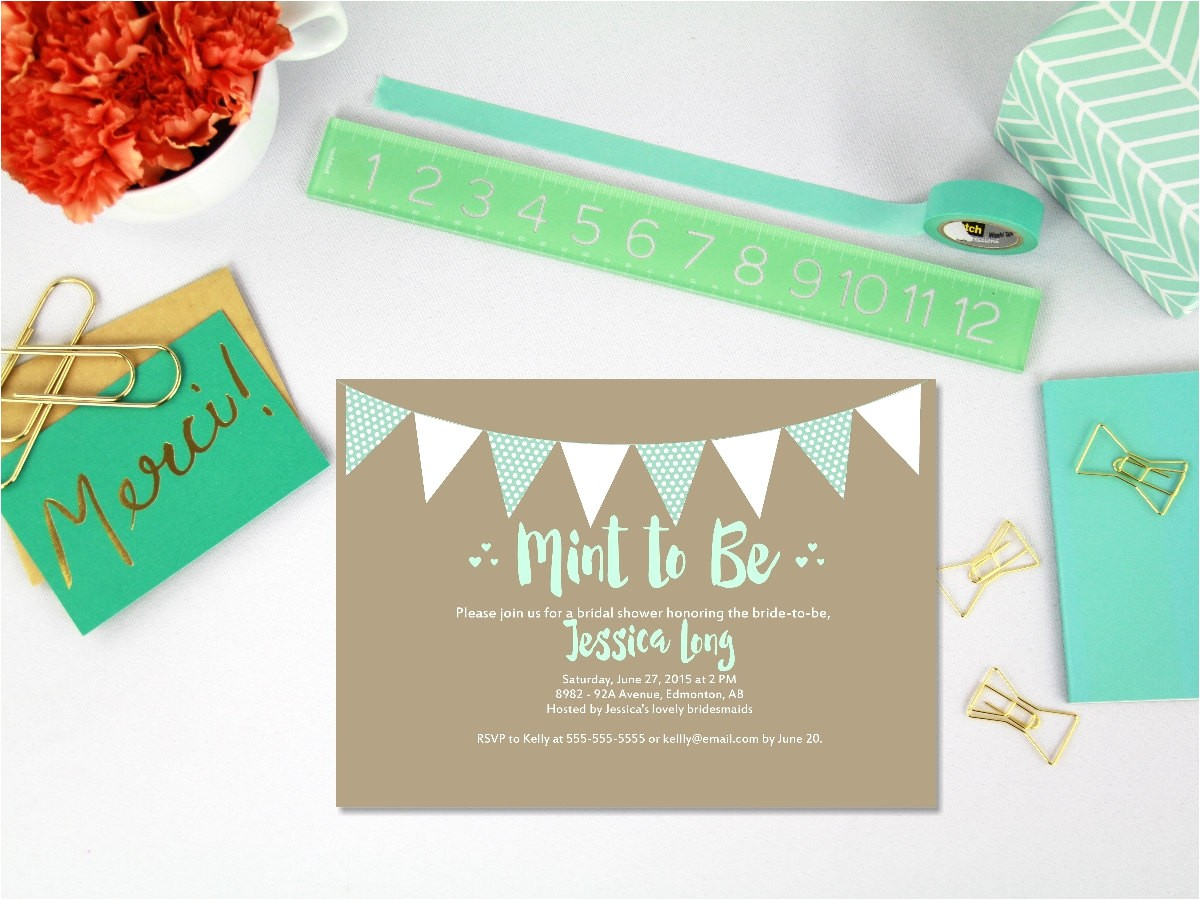 printable mint to be bridal shower