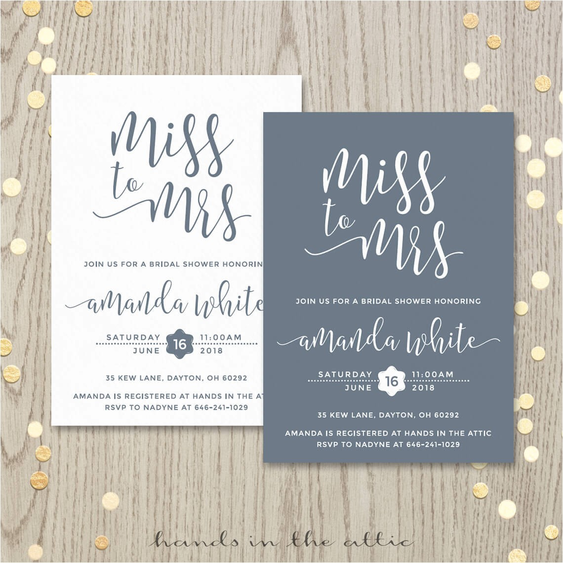miss to mrs bridal shower invitation