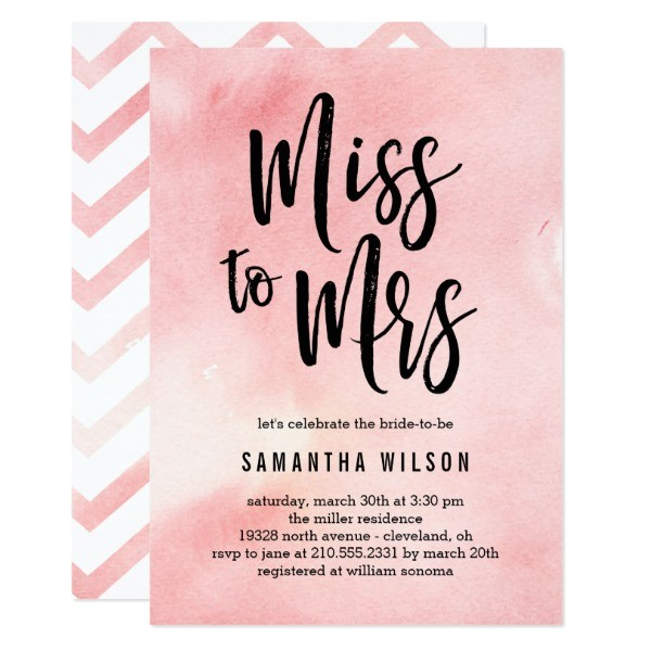 miss to mrs bridal shower invitations