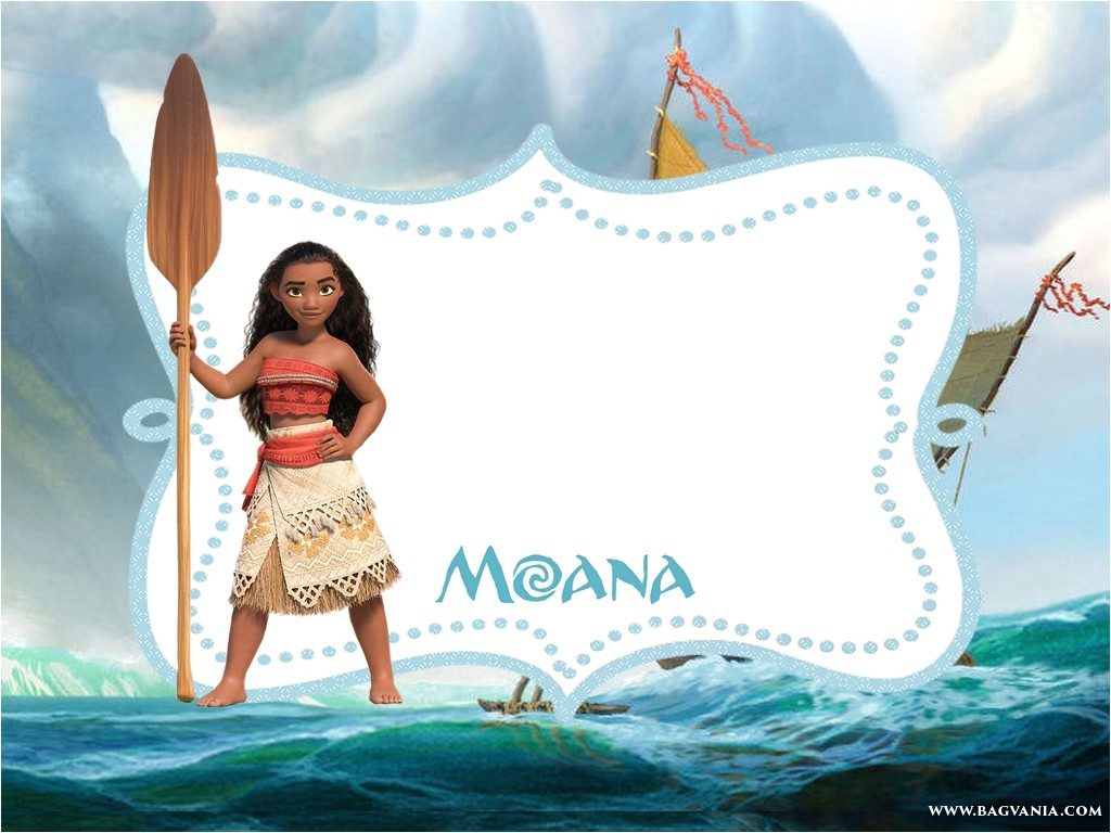 free printable moana invitation template