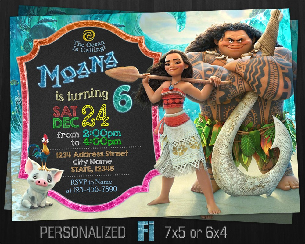 moana invitation moana birthday party