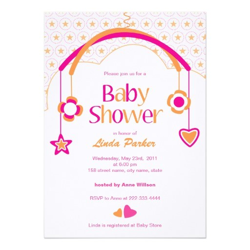 baby mobile baby shower invitation