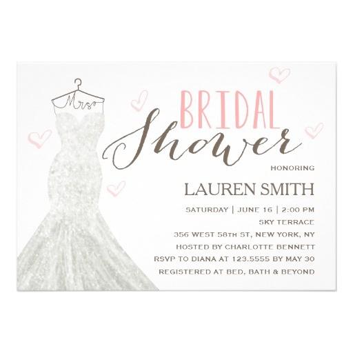 modern bride bridal shower invitation