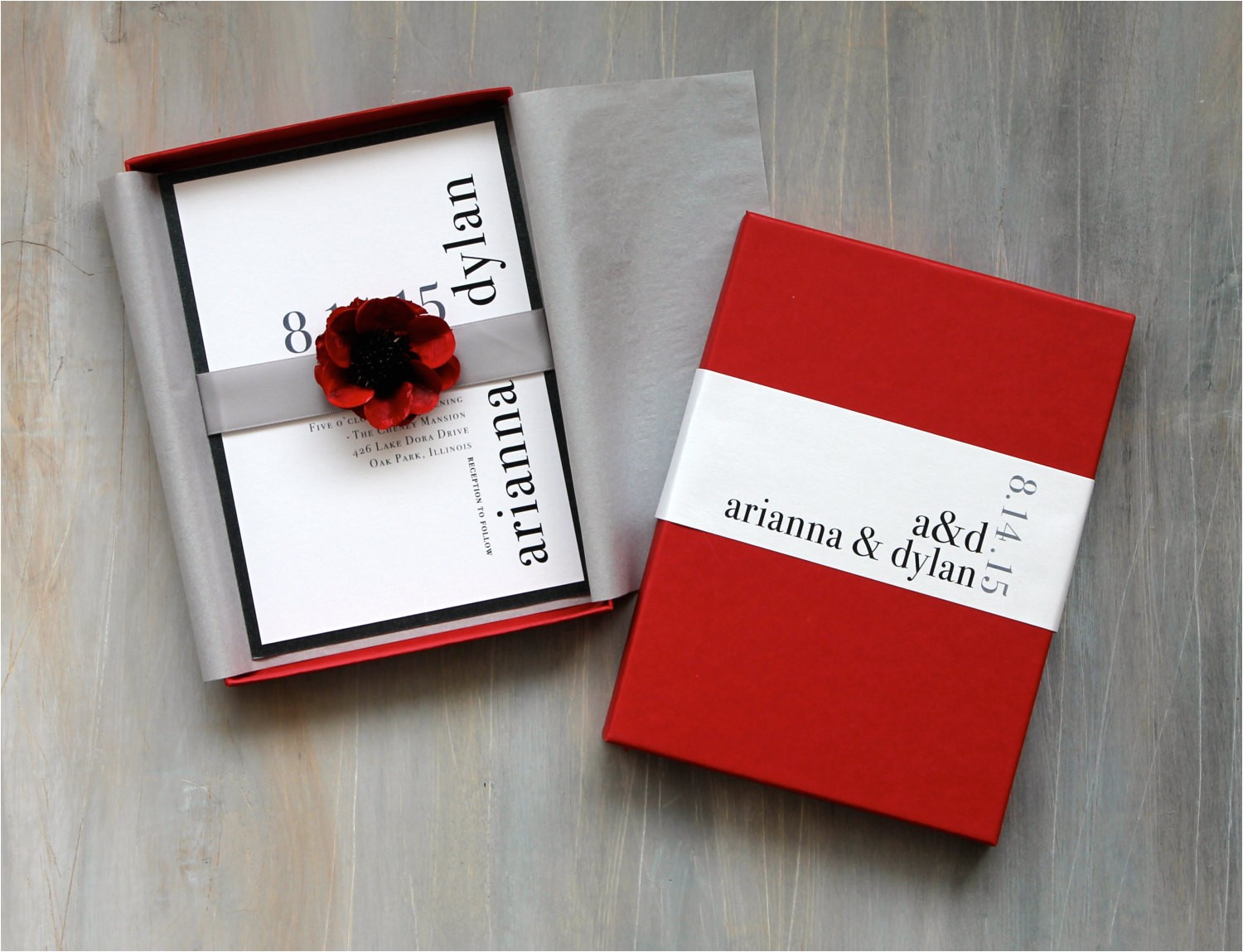 Modern Luxury Birthday Invitations Modern Luxury Box Wedding Invitations Red Wedding Elegant