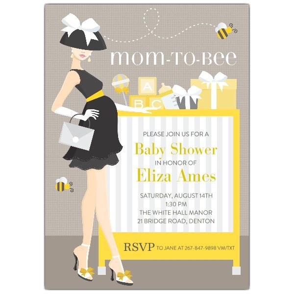 Mom To Bee Baby Shower Invitations p 614 57 IN307