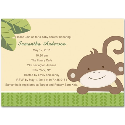 baby shower monkey theme