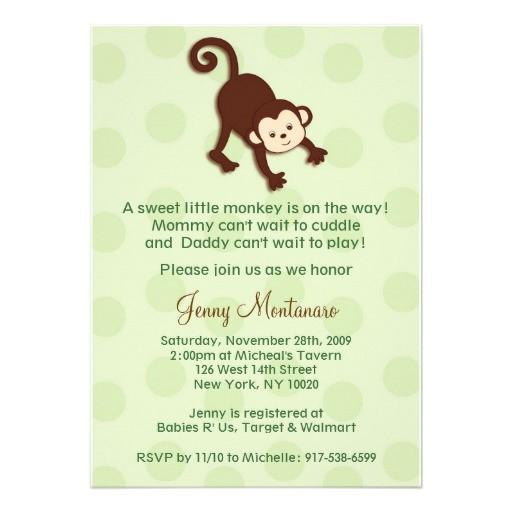 monkey baby shower invitations template