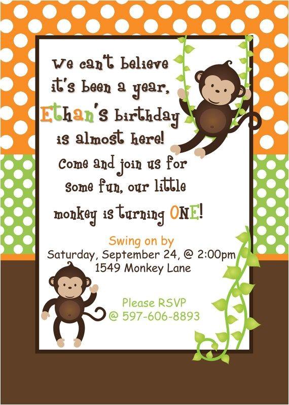 monkey invitations