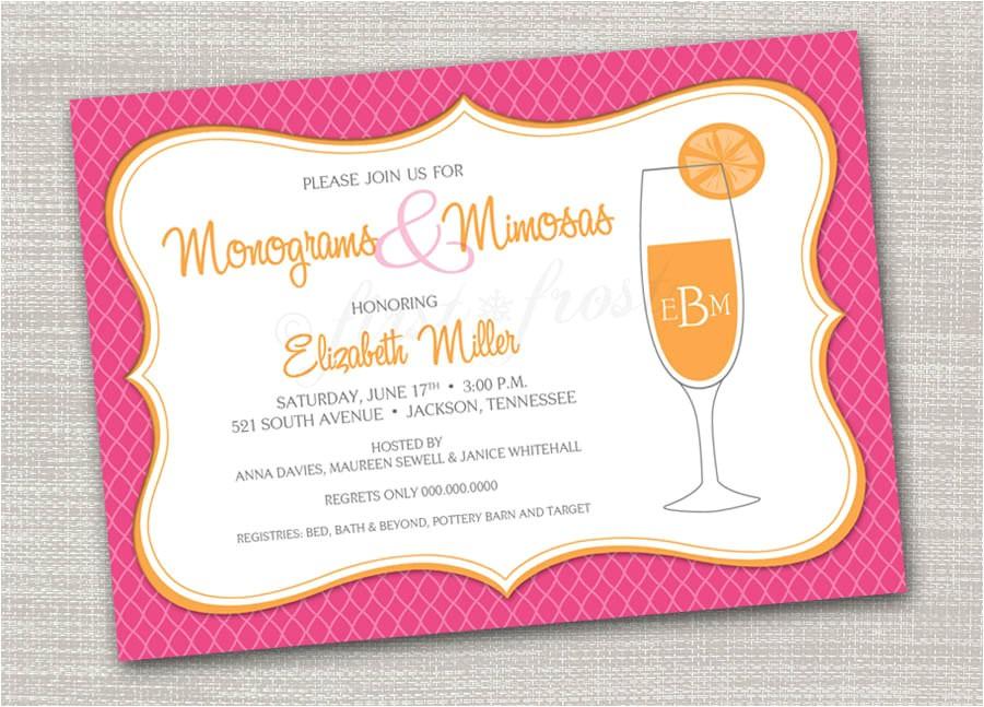 monogram and mimosas printable