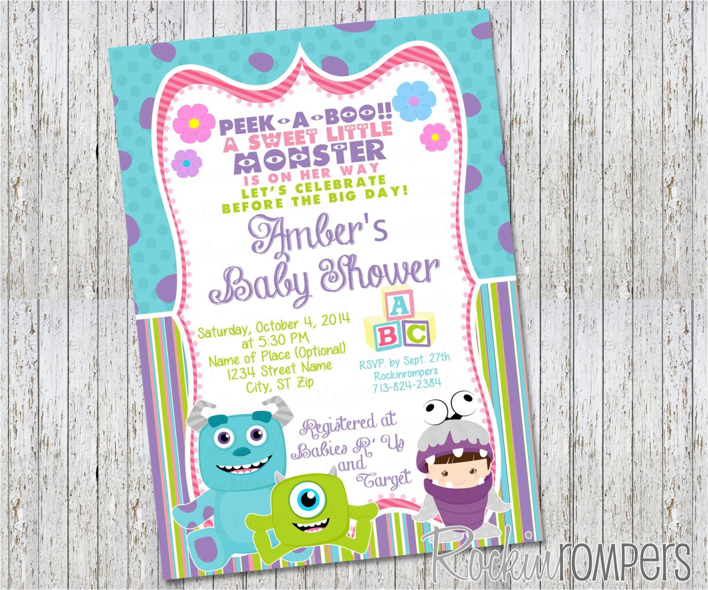 girl monsters inc inspired baby shower