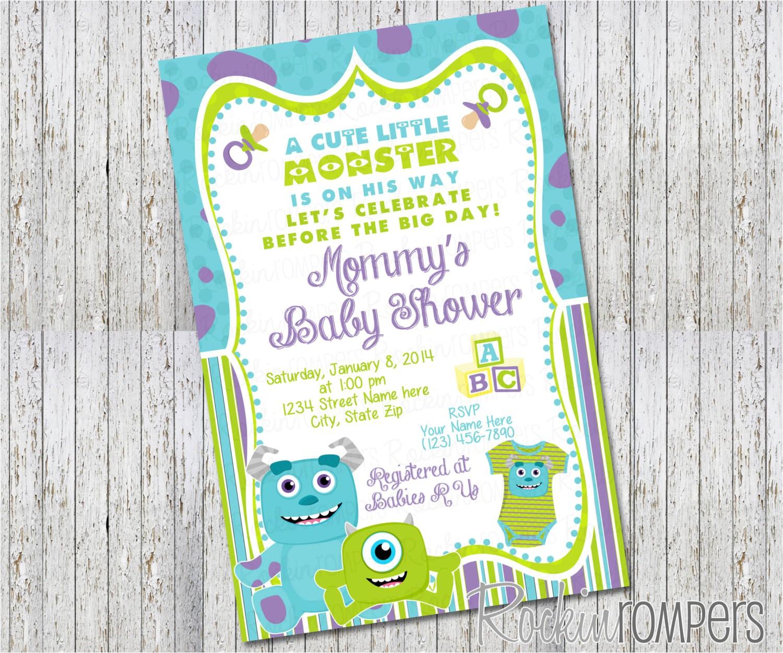 monsters inc inspired baby shower