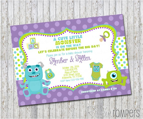 monsters inc inspired baby shower