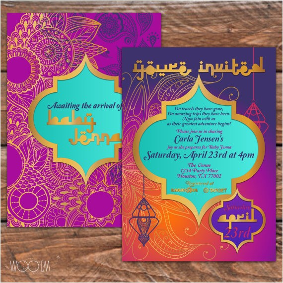 moroccan themed baby shower printable