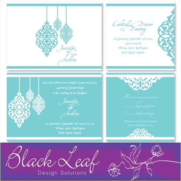 moroccan wedding invitation set