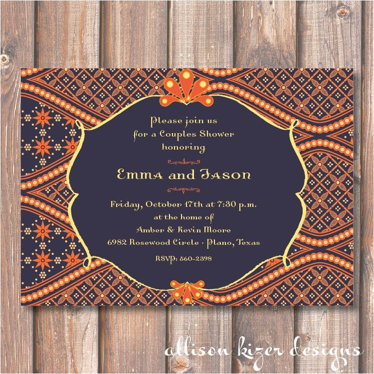 navy and orange boho morocco printable