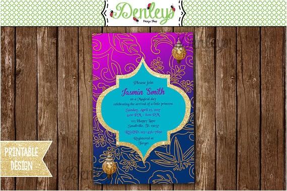 moroccan baby shower invitation arabian