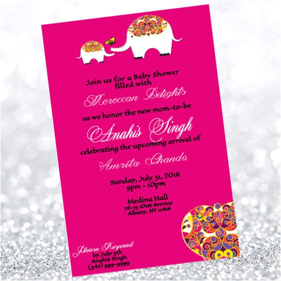 moroccan baby shower invitation