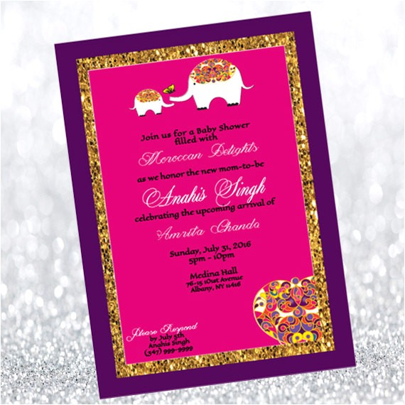 Moroccan Style Baby Shower Invitations Moroccan themed Baby Shower Invitation