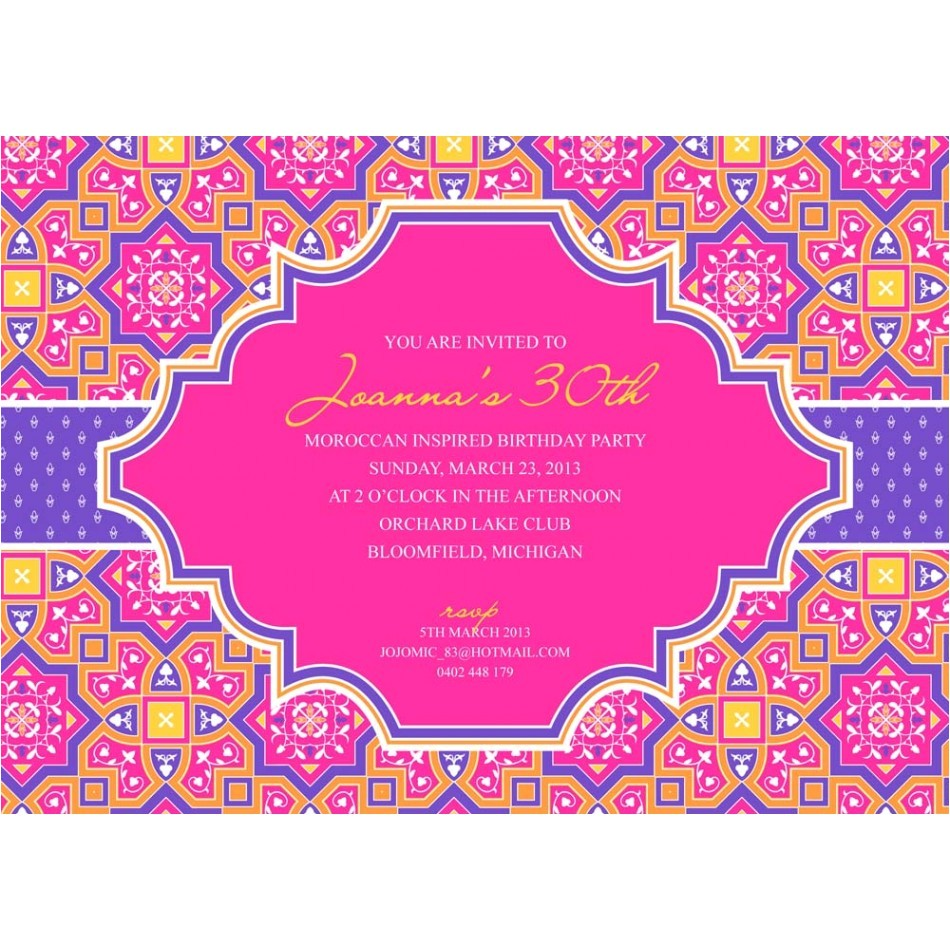 moroccan party invitation printables