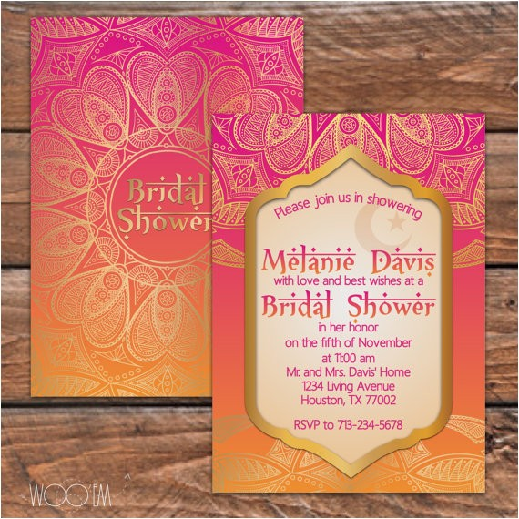 moroccan themed bridal shower printable