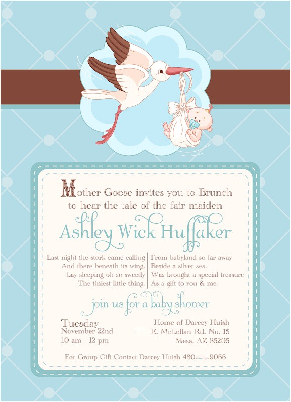 mother goose baby shower invites