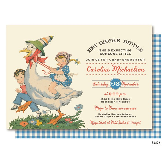 mother goose baby shower nursery rhyme
