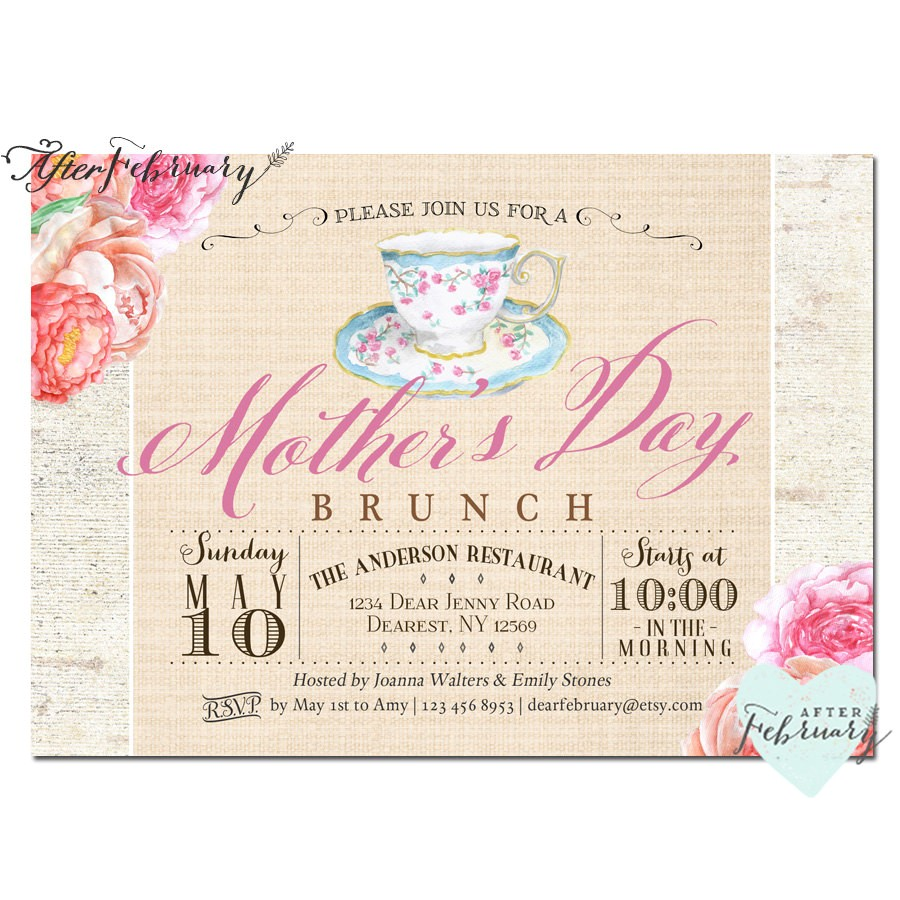mothers day invitation mothers day