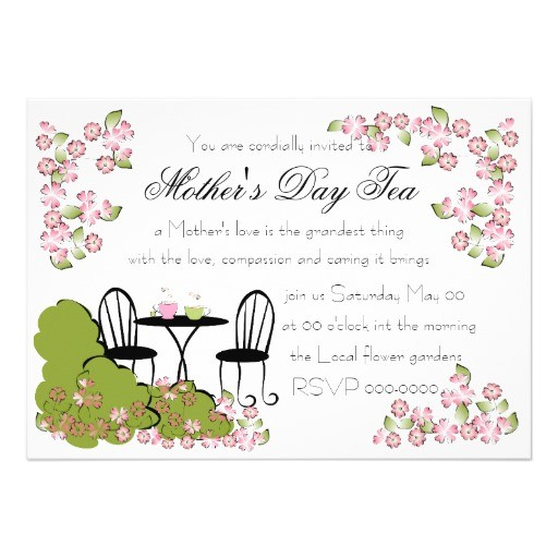 tea in the garden invitation