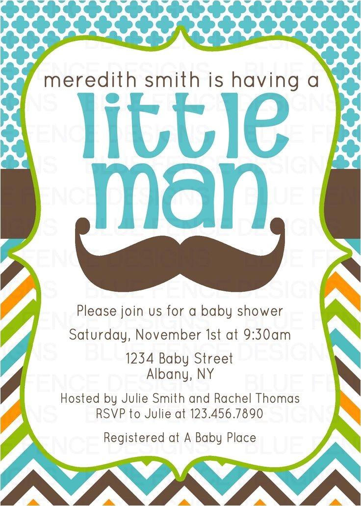Moustache Baby Shower Invitations Mustache Baby Shower Invitation