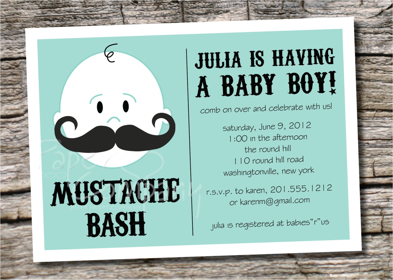 mustache baby shower invitation templates