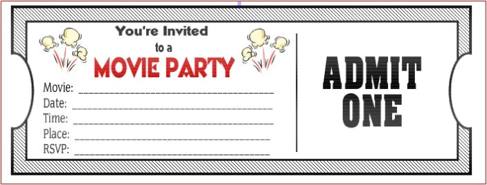 amazing movie birthday party invitations to inspire you
