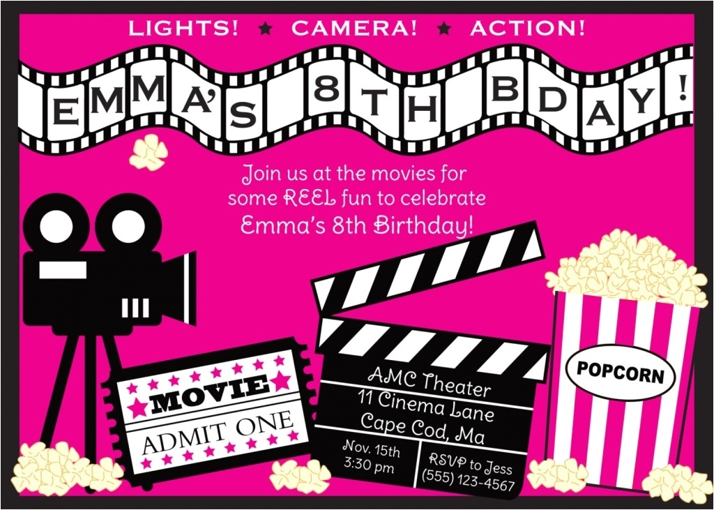 movie invitations template