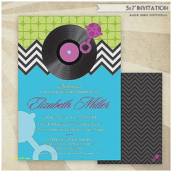 music themed baby shower invitations
