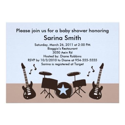 musical theme baby shower ideas