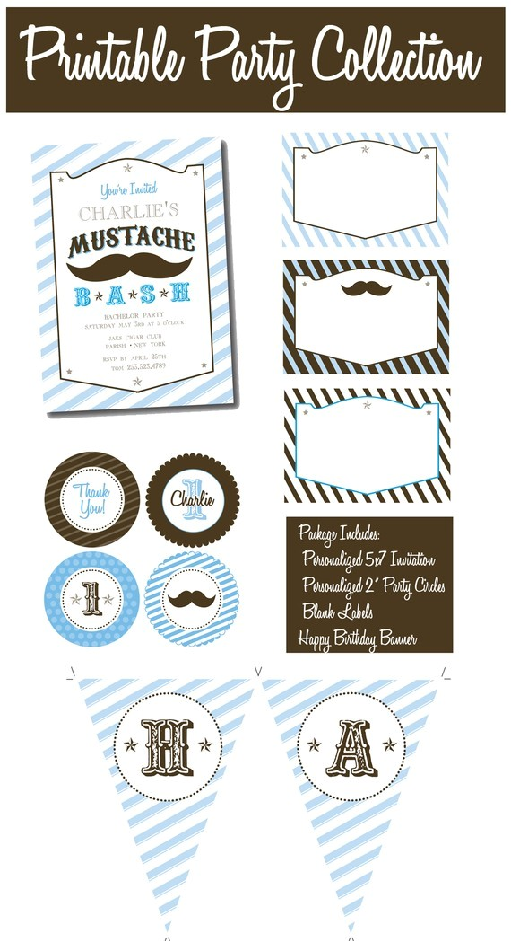 diy mustache straw party favors