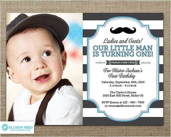 man invitation mustache invitation first birthday