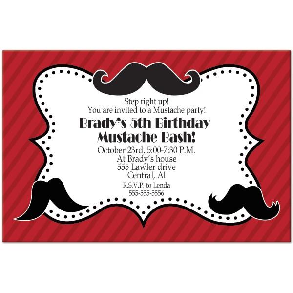 p moustache birthday party printable invitation templates