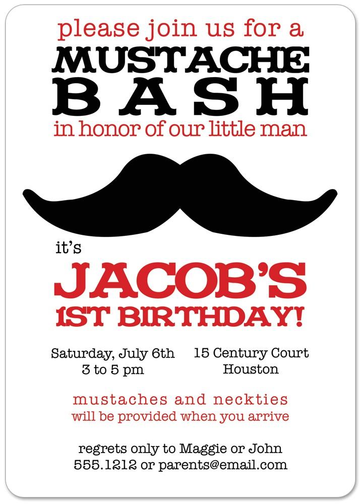 mustache birthday invitations printable card invite