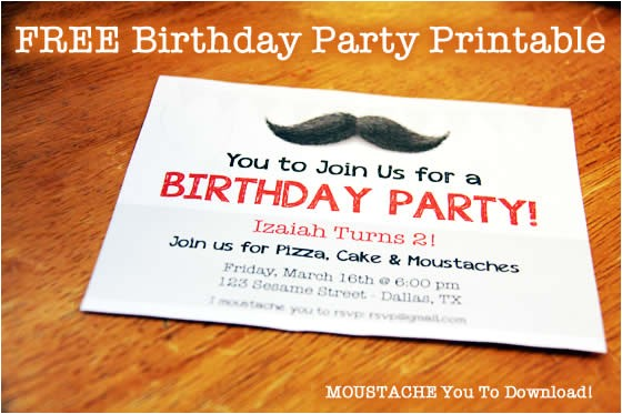 post mustache party invitations printable free