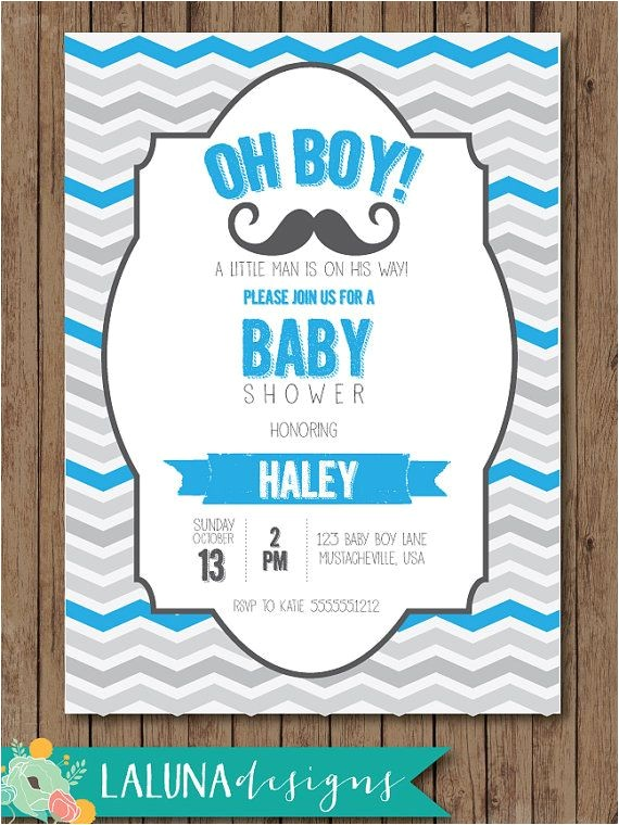 baby shower invitations mustache