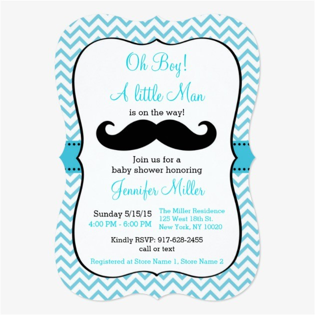 Mustache themed Baby Shower Invitations Mustache Baby Shower Invitations – Gangcraft