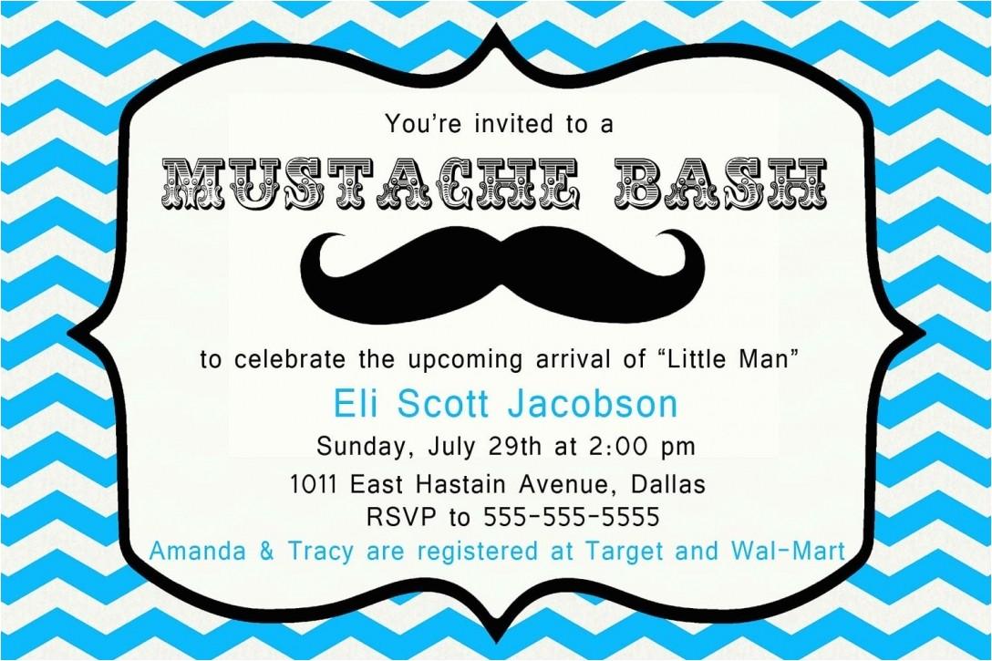 mustache baby shower invitations templates
