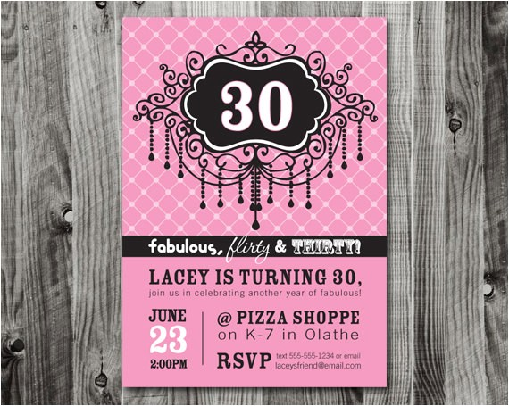 30th birthday party invitation wording ideas