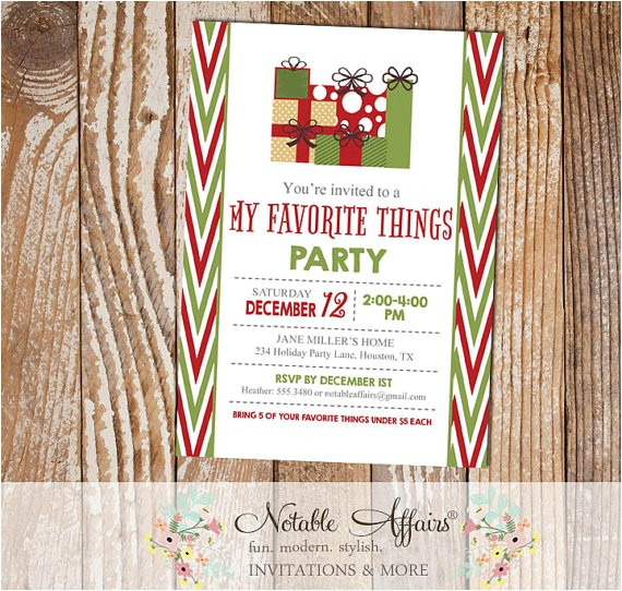 side chevron favorite party invitation dark