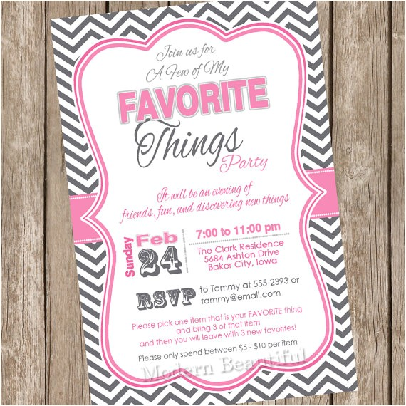 a few of my favorite things pink chevron