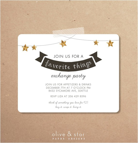 favorite things party invitation set