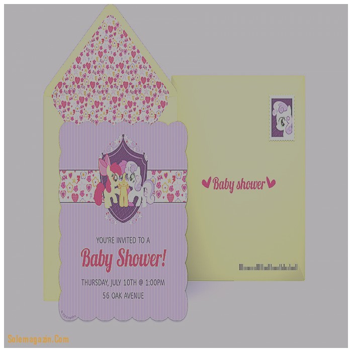 baby shower invitation inspirational my little pony baby show